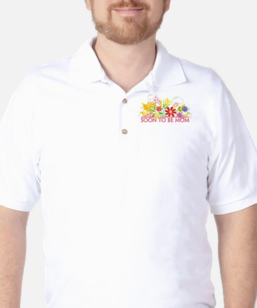 Floral Soon to be Mom Golf Shirt