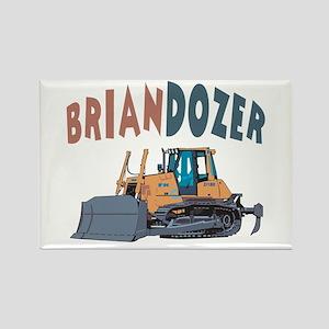 Briandozer the Bulldozer Rectangle Magnet