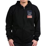 I Voted Today Zip Hoodie (dark)