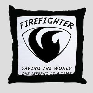 Firefighter 1-1 Throw Pillow