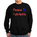 Peace is Patriotic Sweatshirt (dark)