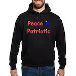 Peace is Patriotic Hoodie (dark)