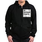 DC Unclaimed Property Zip Hoodie (dark)