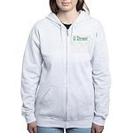U Street Green/Blue Women's Zip Hoodie