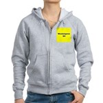 Washington DC (Yellow/Blue) Women's Zip Hoodie
