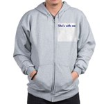 She's With Me Zip Hoodie