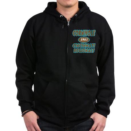 Cornhole Regionals Zip Hoodie (dark)