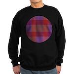 Purple Plaid Fractal Sweatshirt (dark)