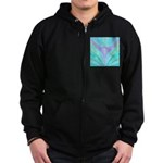 Multi-color Fractal Zip Hoodie (dark)