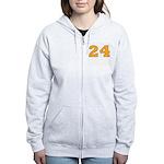 Twenty-four Orange/Blue Women's Zip Hoodie