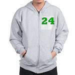 Twenty-four Green/Blue Zip Hoodie