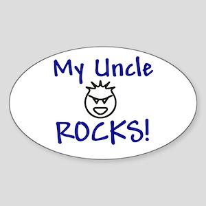 My Uncle Rocks Oval Sticker