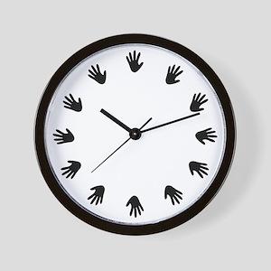Chiropractic Hand Prints Wall Clock