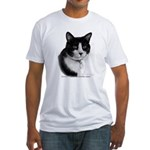 Tuxedo Cat Fitted T-Shirt