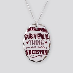 its a danielle name forename t Necklace Oval Charm