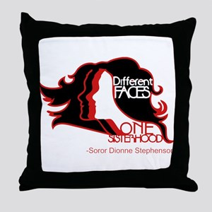 Different Faces One Sisterhood for so Throw Pillow