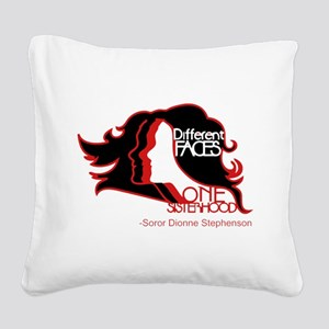Different Faces One Sisterhoo Square Canvas Pillow