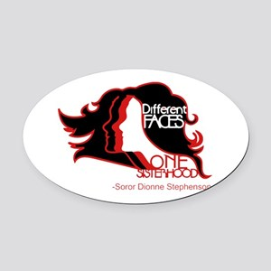 Different Faces One Sisterhood for Oval Car Magnet