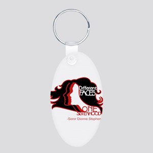 Different Faces One Sisterhood for soror Keychains