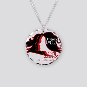 Different Faces One Sisterho Necklace Circle Charm