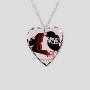 Different Faces One Sisterhoo Necklace Heart Charm
