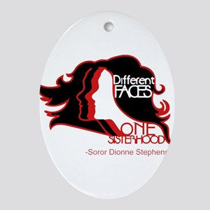 Different Faces One Sisterhood for s Oval Ornament