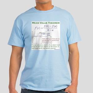Mean Value Theorem Light T-Shirt