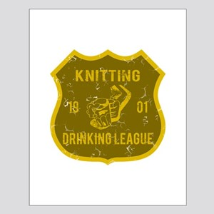 Knitting Drinking League Small Poster
