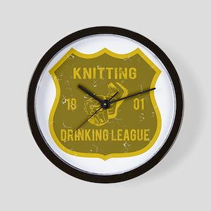 Knitting Drinking League Wall Clock