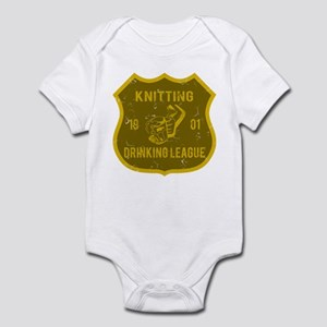 Knitting Drinking League Infant Bodysuit