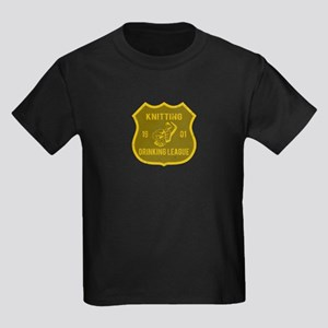 Knitting Drinking League Kids Dark T-Shirt