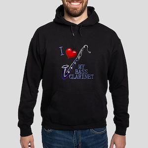 I Love My BASS CLARINET Hoodie (dark)