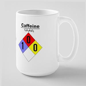 Large Caffeine Chemical Hazard and MSDS Mug