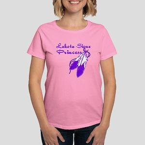 Purple Lakota Sioux Princess Women's Dark T-Shirt