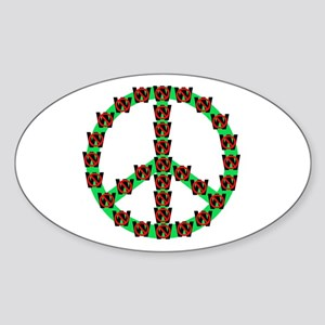 Peace without Dubya Bush Oval Sticker