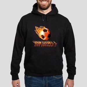 Hot Soccer!! Hoodie (dark)
