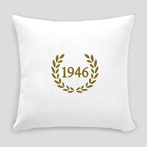 Black 1946 Everyday Pillow