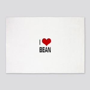 I Heart Bean 5'x7'Area Rug