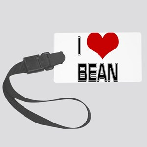 I Heart Bean Large Luggage Tag