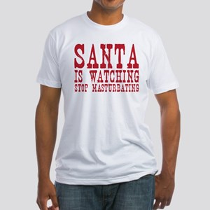Santa is Watching Fitted T-Shirt