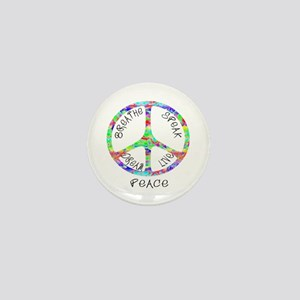 Live Peace Mini Button