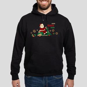 Scootin Santa Hoodie (dark)