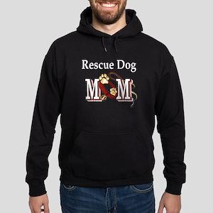 Rescue Dog Mom Hoodie (dark)