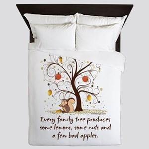 Funny Family Tree Saying Design Queen Duvet