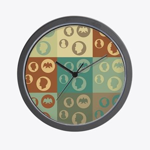 Coins Pop Art Wall Clock