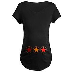 Red Emo Stars Maternity Tee (Dark)