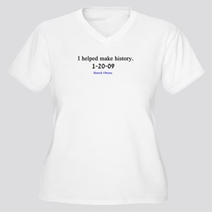 I Helped make History Women's Plus Size V-Neck T-S