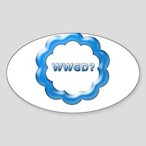 WWGD? Oval Sticker