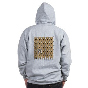 Cattle Dog and Cattle Zip Hoodie