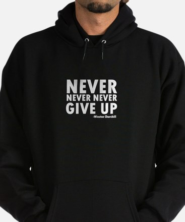 Never Never Give Up Hoodie (dark)